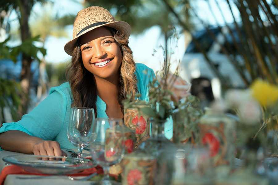 Co host of Taste the Islands TV Show Cynthia Chef Thia Verna Photo by Richard Lecoin