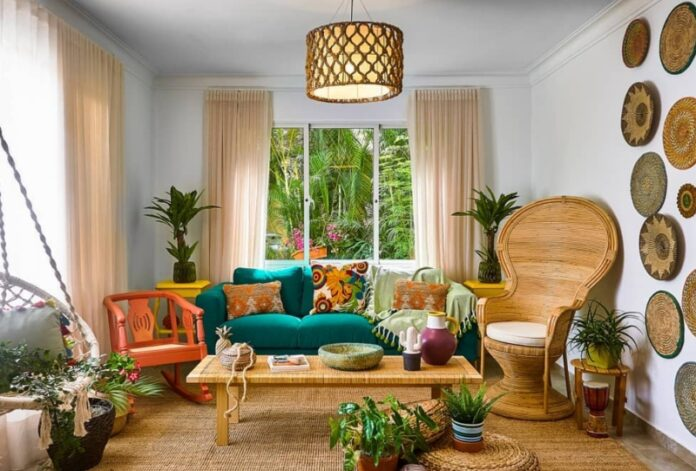 Picture of a tropical inspired room