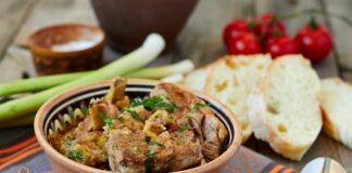 A bowl of Barbadian lamb stew.