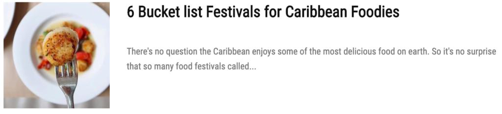 caribbean festival food