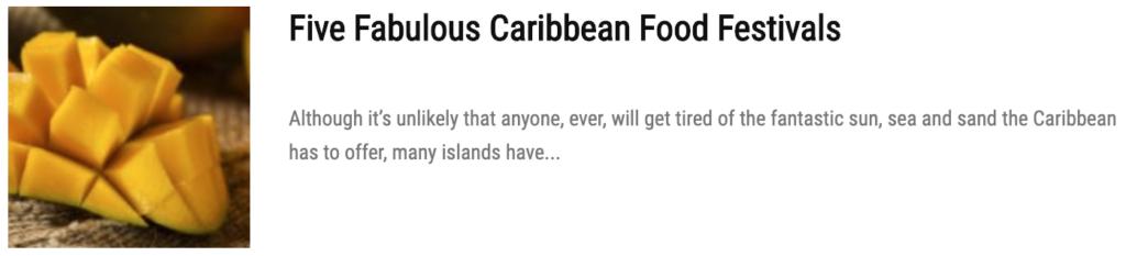 fabulous caribbean food festivals