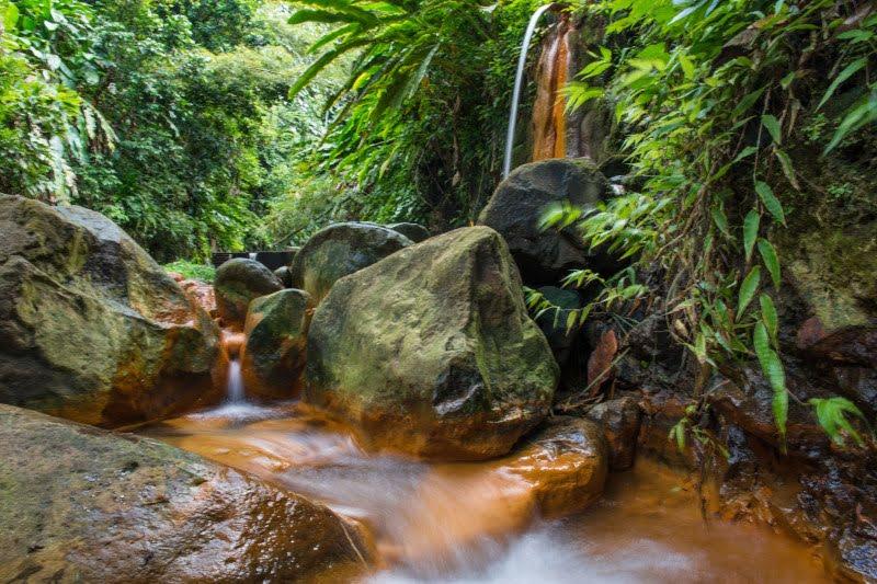 Island Spa Retreat, River Sallee Boiling Springs in St. Patrick and Clabony Hot Springs in Grenville, Sulphur Springs in Grenada